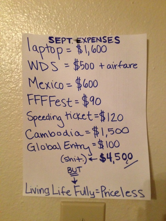 September expenses