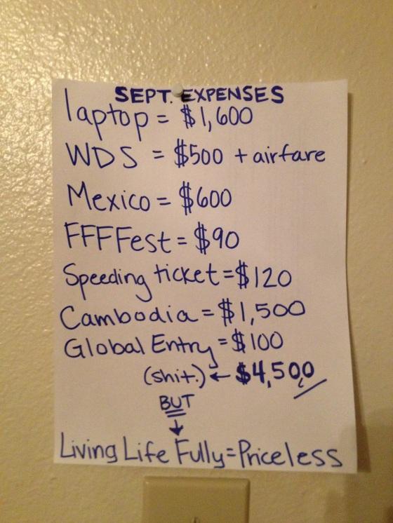 September expenses